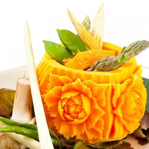 Calabaza al curry (carving)