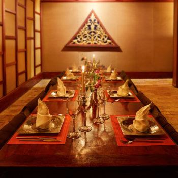 Kantok Room| Traditional Thai Tables