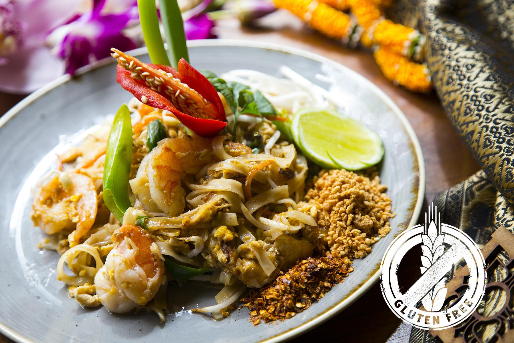 El Pat Thai es una de las recetas más conocidas de la gastronomía thai. Ahora en Thai Barcelona también disponible para celiacos.