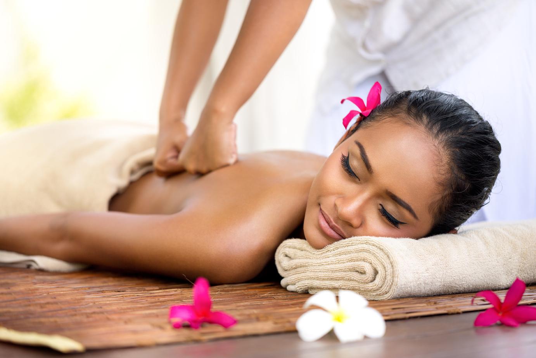 Thai massage in spa environment